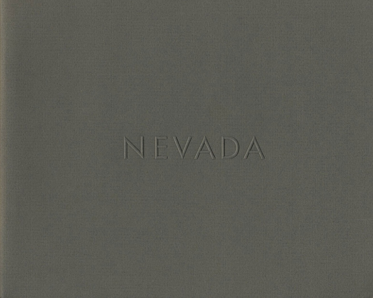 Lewis Baltz: Nevada (First Edition) [SIGNED] [IMPERFECT]