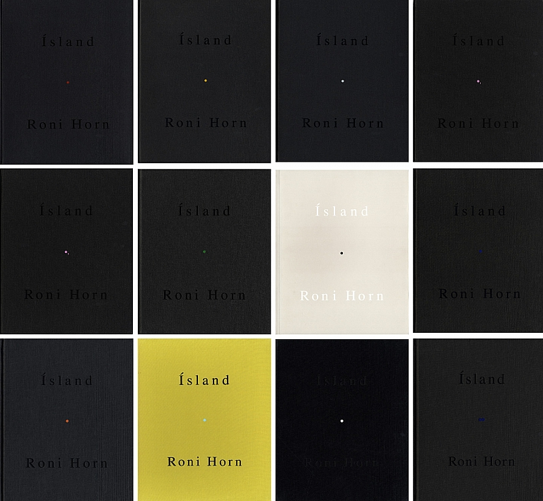 Roni Horn: Ísland: To Place 1-10 (Complete Set, with Inner Geography supplement) [all volumes SIGNED, All in NEW Condition]: 1) Bluff Life; 2) Folds; 3) Lava; 4) Pooling Waters (2 volumes); 5) Verne's Journey; 6) Haraldsdóttir; 7) Arctic Circles; 8) Becoming a Landscape (two volume boxed set); 9) Doubt Box; 10) Haraldsdóttir, Part Two; 11) Inner Geography (supplement)