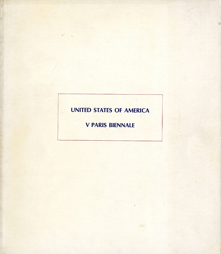 United States of America: V Paris Biennale (1967 Exhibition Catalogue