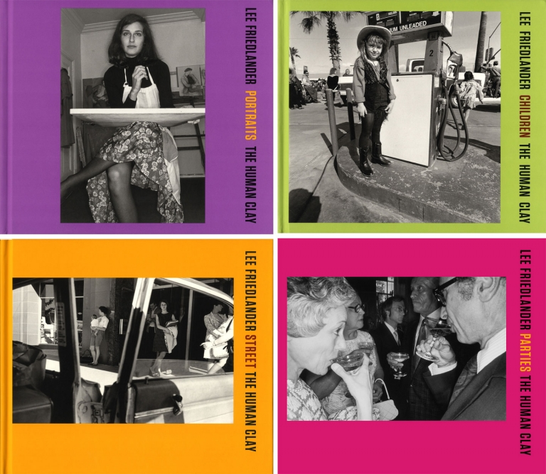 Lee Friedlander: The Human Clay (4-Volume Set: Portraits; Children; Street; Parties) [SIGNED
