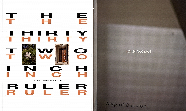 "The Thirty Two Inch Ruler: Some Photographs by John Gossage & Map of Babylon (""Bootleg"" Print-on-Demand Edition) [each SIGNED]"