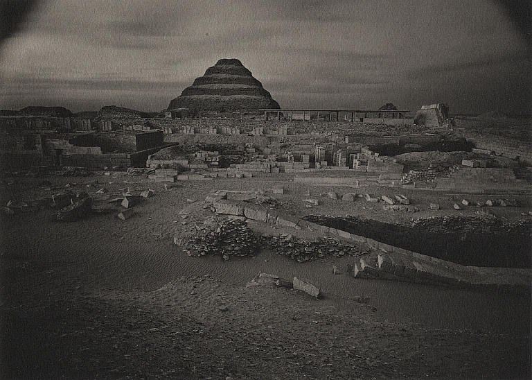 "Kenro Izu: ""Pyramid of Sakkura, Egypt, 1985,"" Limited Edition (Platinum Print"