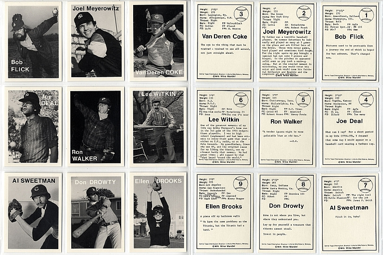 Mike Mandel: Untitled (Baseball-Photographer Trading Cards), Complete Set of 135 Cards [SIGNED by...