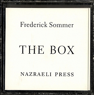 Frederick Sommer: The Box, Limited Edition (First Edition). Frederick SOMMER