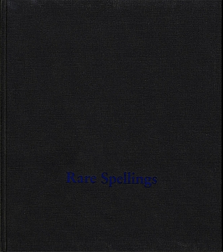 Roni Horn: Rare Spellings: Selected Drawings / Zeichnungen 1985-1992 [SIGNED]. Roni HORN