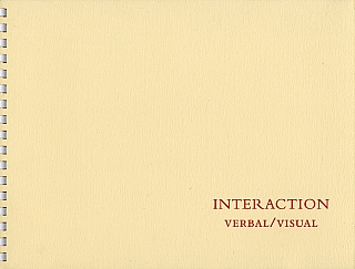 Carl Chiarenza: Interaction: Verbal/Visual, Limited Edition [SIGNED]. Carl CHIARENZA