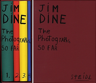 Jim Dine: The Photographs, So Far (Four Volume Set) [SIGNED] [IMPERFECT]. Jim DINE, Jean-Luc, MONTEROSSO, Stephanie, WILES, Marco, LIVINGSTONE, Andy, GRUNDBERG.