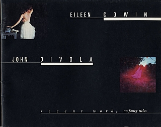 Eileen Cowin / John Divola: Recent Work, No Fancy Titles. Eileen COWIN, Mark, JOHNSTONE,...