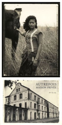 "Bill Burke: Autrefois, Maison Privée, Special Limited Edition (with Toned Gelatin Silver Print ""Woman and Elephant, Phnom Penh, 1994"") [SIGNED & STAMPED]. Bill BURKE."