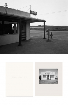 "NZ Library #1: John Schott: Route 66, Special Limited Edition (with Gelatin Silver Contact Print ""New Topographics #122 Untitled, 1973,"" Motel Office with Neon Cactus Sign) (NZ Library - Set One, Volume Six). John SCHOTT."