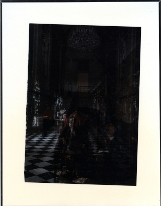 "Robert Heinecken: ""Women in Dark Room #7, 1987,"" Proof, Cibachrome Print. Robert HEINECKEN"