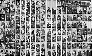 Mike Mandel: Set of 2 Uncut, Original Printed Sheets, Limited Edition of Untitled (Baseball-Photographer Trading Cards with Additional Printed Postcards) [SIGNED]. Mike MANDEL.