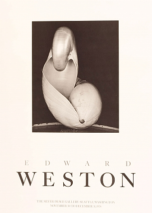 Edward Weston: Silver Image Gallery Exhibition Poster (Shell, 1927, 14S). Edward WESTON