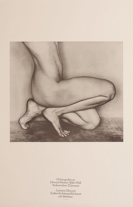 70 Fotografier av Edward Weston (1886-1958) (Camera Obscura Galleri Exhibition Poster). Edward...