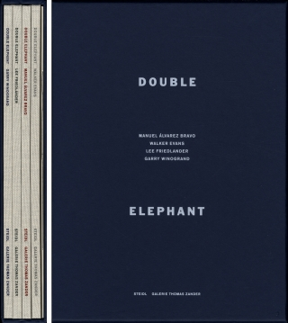 Double Elephant 1973-74: Manuel Álvarez Bravo, Walker Evans, Lee Friedlander & Garry Winogrand [SIGNED by Friedlander]. Manuel ÁLVAREZ BRAVO, Thomas, ZANDER, Susan, KISMARIC, Garry, WINOGRAND, Lee, FRIEDLANDER, Walker, EVANS.