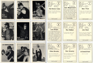 Mike Mandel: Untitled (Baseball-Photographer Trading Cards), Complete Set of 135 Cards. Mike MANDEL