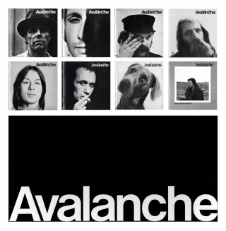 Avalanche (Facsimile Boxed Set), Limited Edition. Vito ACCONCI, GILBERT, Robert, SMITHSON, William, WEGMAN, Edward, RUSCHA, Lowell, DARLING, Van, SCHLEY, GENERAL IDEA, Yvonne, RAINER, Keith, SONNIER, Phil, GLASS, Janis, KOUNELLIS, Joseph, BEUYS, Franz Erhard, WALTHER, Alice, AYCOCK, Howard, FRIED, Jackie, WINSOR, Barry, LE VA, George, TRAKAS, Italo, SCANGA, Robert, MORRIS, Joel, FISHER, Bill, BECKLEY, Terry, FOX, Klaus, RINKE, Bruce, MCLEAN, Yves, KLEIN, Bruce, NAUMAN, Michael, SNOW, Dennis, OPPENHEIM, Gordon, MATTA-CLARK, Allan, KAPROW, Peter, HUTCHINSON, Dan, GRAHAM, Hamish, FULTON, CHRISTO, BURDEN GEORGE, Willoughby, SHARP, Liza, BEAR, David, TREMLETT, Michael, HEIZER, Carl, ANDRE, Lawrence, WEINER, Richard, LONG, Sol, LEWITT, Jan, DIBBETS, Walter, DE MARIA, Hanne, DARBOVEN, Diego, CORTEZ, Meredith, MONK, Bas Jan, ADER, Reiner, RUTHENBECK, Jim, ROCHE, Colleen, FITZGIBBON, Robin, WINTERS, Alexis, SMITH, Rita, MYERS, Robert, WILSON, Michael, MCCLARD, Christopher, KNOWLES, Barbara, DILLEY, Darcy, LANGE, On, KAWARA, Laurie, ANDERSON, Joel, SHAPIRO, Alan, SARET, Steve, PAXTON, Stephen, LAUB, Simone, FORTI, Hans, HAACKE, Jack, SMITH, Richard, SERRA, Robert, BELL, Chris.