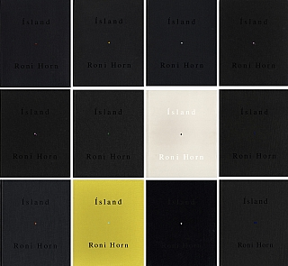 Roni Horn: Ísland: To Place 1-10 (Complete Set, with Inner Geography supplement) [all volumes SIGNED, All in NEW Condition]: 1) Bluff Life; 2) Folds; 3) Lava; 4) Pooling Waters (2 volumes); 5) Verne's Journey; 6) Haraldsdóttir; 7) Arctic Circles; 8) Becoming a Landscape (two volume boxed set); 9) Doubt Box; 10) Haraldsdóttir, Part Two; 11) Inner Geography (supplement). Roni HORN.