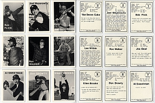 Mike Mandel: Untitled (Baseball-Photographer Trading Cards), Complete Set of 135 Cards [SIGNED by Mandel]. Mike MANDEL.