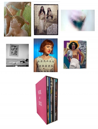 Nazraeli Press Six by XX (6 x XX), Limited Edition (with 6 Prints): Laurie Simmons: How We See; Catherine Opie: Girlfriends; Marilyn Minter: Cunt; Mickalene Thomas: Black is Beautiful; Lalla Essaydi: Lalla Essaydi; Petra Collins: Kamasz Nyar. Catherine OPIE, Petra, COLLINS, Lalla, ESSAYDI, Mickalene, THOMAS, Marilyn, MINTER, Laurie, SIMMONS.